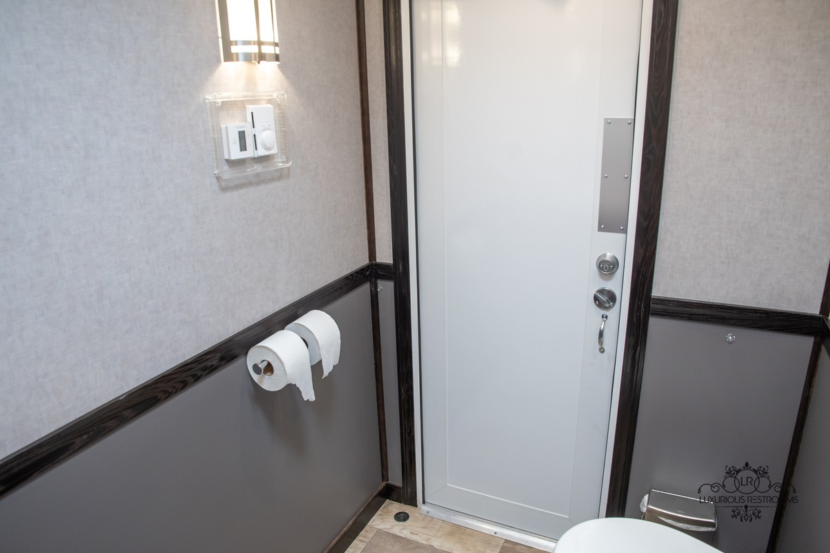 elegant restroom trailer for party