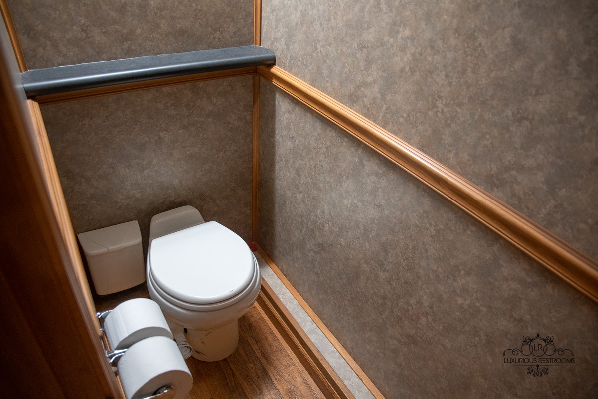 palatial water closet trailer for event