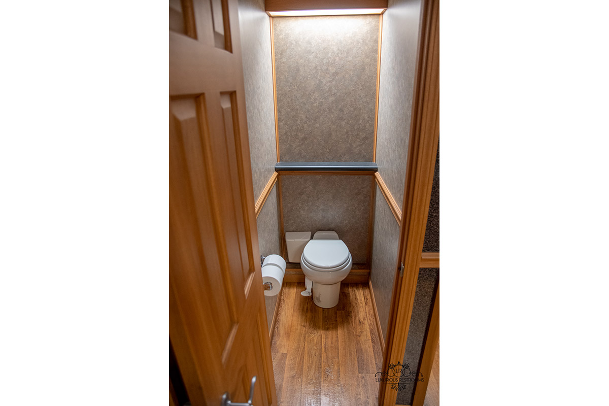 well appointed water closet trailer for ceremony