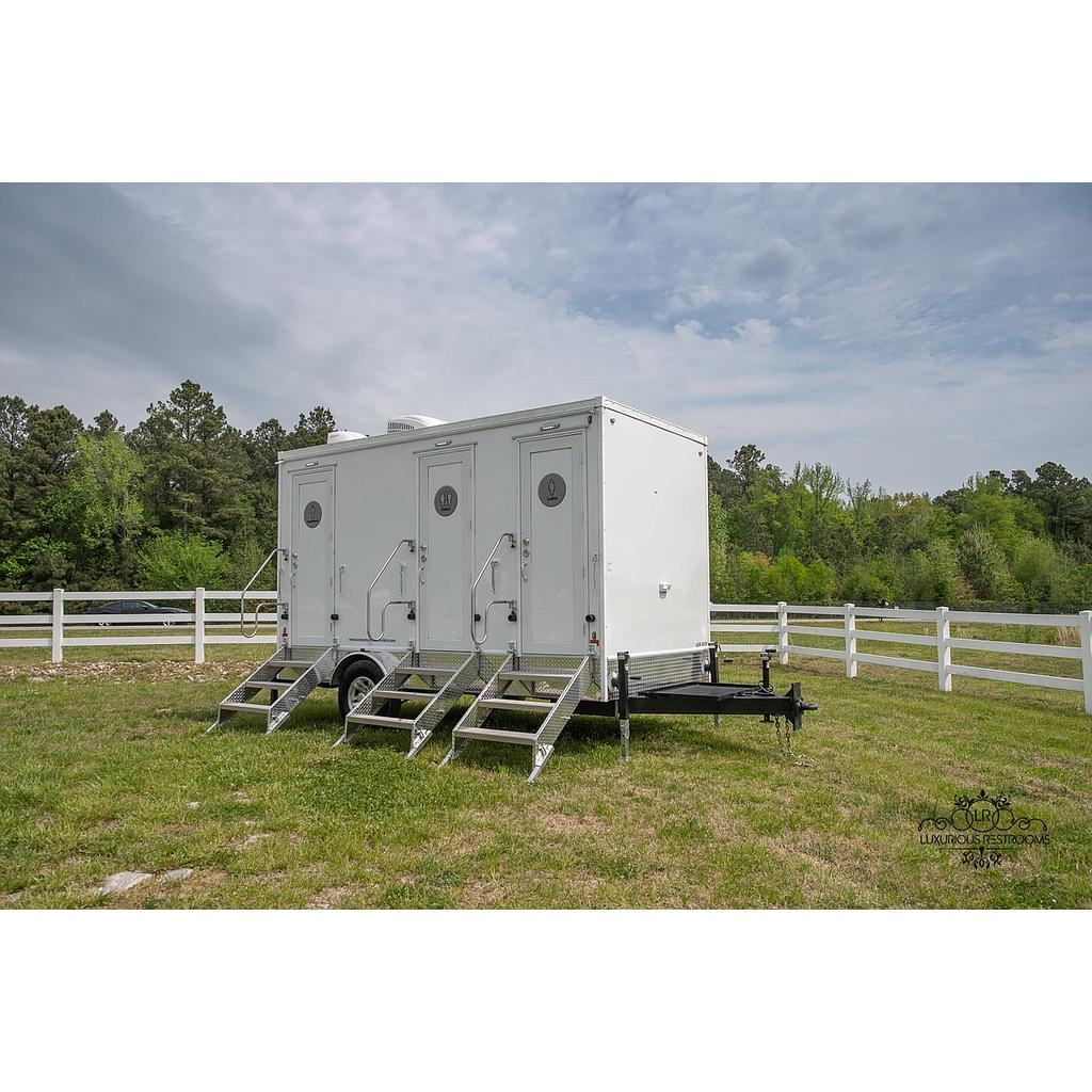 LUXURY 3-Stall Restroom Trailer